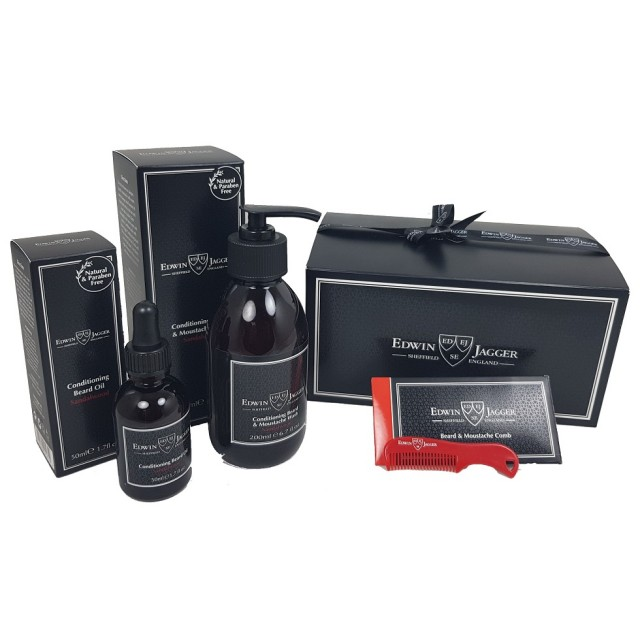 "Edwin Jagger Set cadou de ingrijire barba ""My Fabulous Beard Kit"" - Sandalwood"