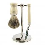 Edwin Jagger Set barbierit 3 piese S81M717CR, Ivory Fit Mach 3