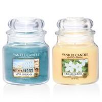 Set 2 Lumanari Parfumate Borcan Mediu, Viva Havana & Tobacco Flower, Yankee Candle