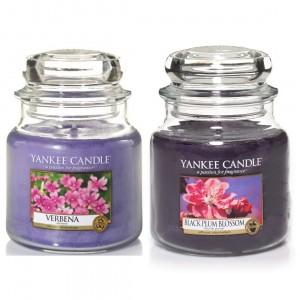 Set 2 Lumanari Parfumate Borcan Mediu, Verbena & Black Plumb Blossom, Yankee Candle