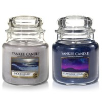 Set 2 Lumanari Parfumate Borcan Mediu, Moonlight & Kilimanjaro Stars, Yankee Candle