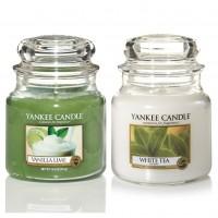 Set 2 Lumanari Parfumate Borcan Mediu, Vanilla Lime & White Tea, Yankee Candle