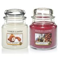 Set 2 Lumanari Parfumate Borcan Mediu, Soft Blanket & Moroccan Argan Oil, Yankee Candle