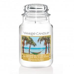 "Lumanare Parfumata Borcan Mare ""Christmas at the Beach - EDITIE LIMITATA"", Yankee Candle"