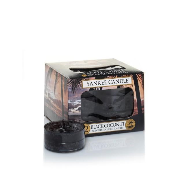 Set 12 lumanari parfumate tip pastila Black Coconut, Yankee Candle