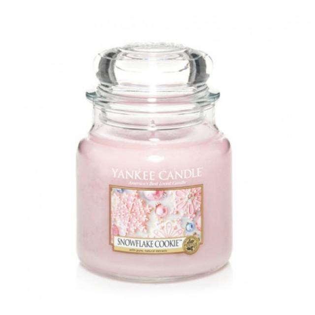Lumanare Parfumata Borcan Mediu Snowflake Cookie, Yankee Candle