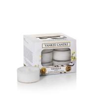Set 12 lumanari parfumate tip pastila Vanilla, Yankee Candle