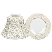 "Accesoriu Borcan Mic ""Clear Glass Bubble Mosaic"", Yankee Candle"