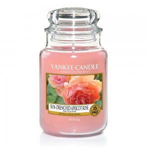 Lumanare Parfumata Borcan Mare Sun Drenched Apricot Rose - SPRING 2018, Yankee Candle