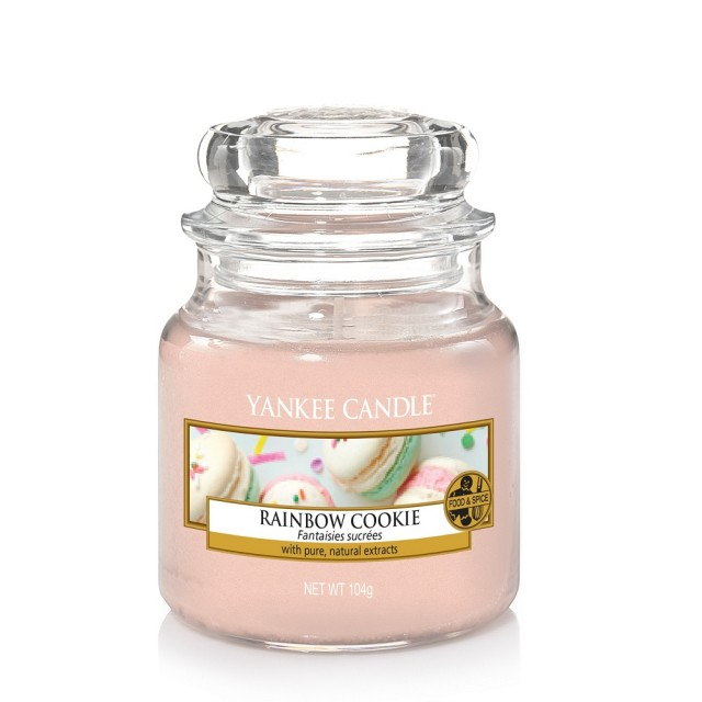 Lumanare Parfumata Borcan Mic Rainbow Cookie, Yankee Candle