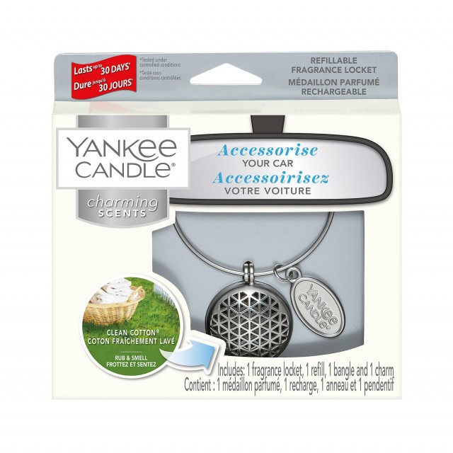 Odorizant Auto Charming Scents Geometric Clean Cotton, Yankee Candle