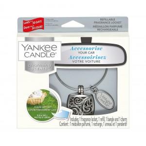 Odorizant Auto Charming Scents Square Clean Cotton, Yankee Candle