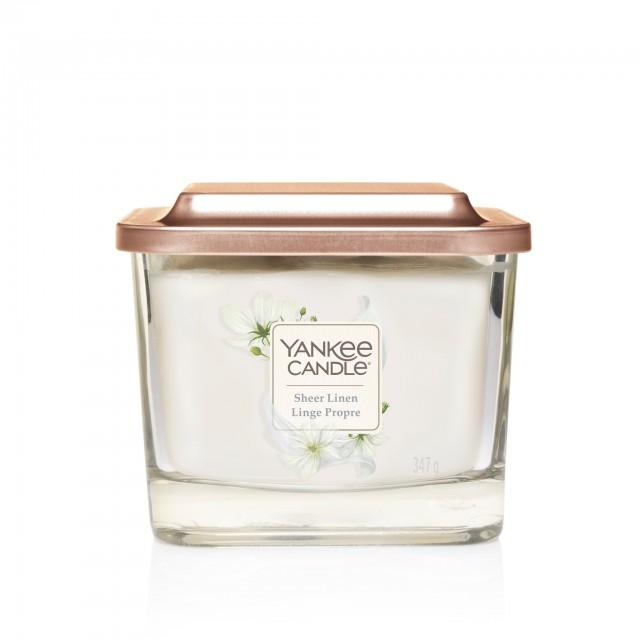 Lumanare Parfumata Elevation Collection Borcan Mediu Sheer Linen, Yankee Candle