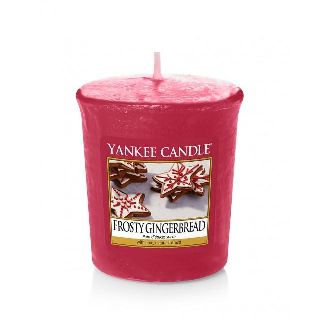 Lumanare Parfumata Votive Frosty Gingerbread, Yankee Candle