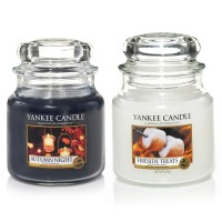 Set 2 Lumanari Parfumate Borcan Mediu, Autumn Night & Fireside Treats, Yankee Candle