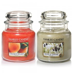 Set 2 Lumanari Parfumate Borcan Mediu, Orange Splash & Olive&Thyme, Yankee Candle