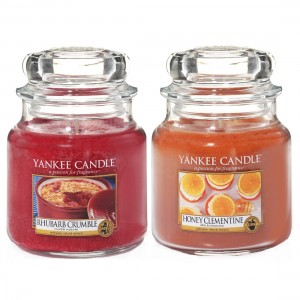 Set 2 Lumanari Parfumate Borcan Mediu, Honey Clementine & Rhubarb Crumble, Yankee Candle