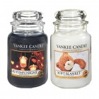 Set 2 Lumanari Parfumate Borcan Mare: Autumn Night & Soft Blanket, Yankee Candle