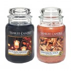 Set 2 Lumanari Parfumate Borcan Mare: Autumn Night & Cinnamon Stick, Yankee Candle