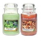 Set 2 Lumanari Parfumate Borcan Mare: Wild Mint & Cinnamon Stick, Yankee Candle