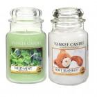 Set 2 Lumanari Parfumate Borcan Mare: Wild Mint & Soft Blanket, Yankee Candle