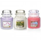 Set aromoterapie,  EDITIE LIMITATA Flower THERAPY, YANKEE CANDLE
