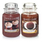 Set 2 Lumanari Parfumate Borcan Mare Vanilla Bourbon & Cappuccino Truffle, Yankee Candle