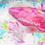 Bila efervescenta de baie Dunk in Love - Watercolours, Bomb Cosmetics 250g