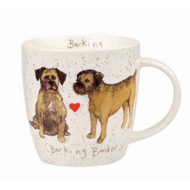 "Cana din portelan Alex Clark Delightful Dogs ""Barking Borders"" 400ml, Churchill"