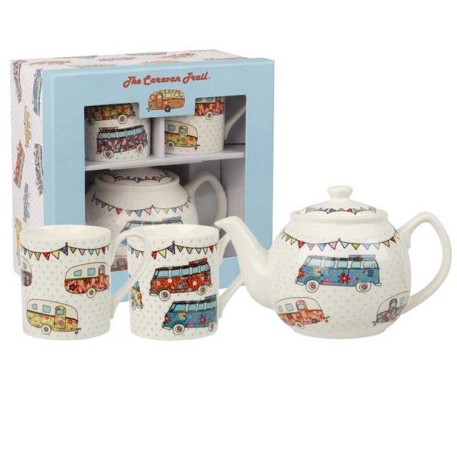 "Set de ceai pentru 2 persoane, ceainic si 2 cani ""Tea for Two"" The Caravan Trail, Churchill"