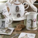 Set ceainic si ceasca cu farfurie din portelan, pentru o persoana, Tea for One Country Pursuits - The Night Watchman, Churchill