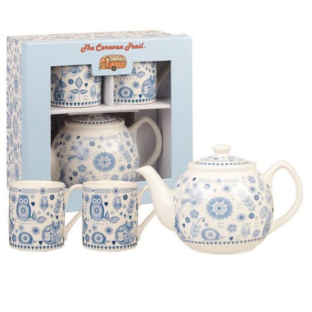 """Set de ceai pentru 2 persoane, ceainic si 2 cani """"Tea for Two"""" Penzance, Churchill"""