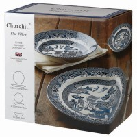 Set vesela, 12 piese, Blue Willow, Churchill