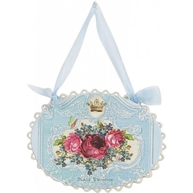 "Decoratiune ""Crowned Roses"", Clayre&Eef"