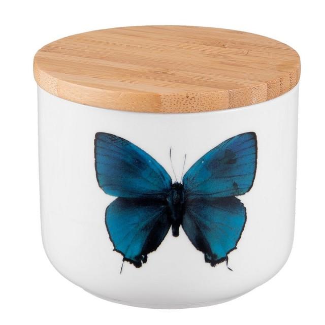 "Borcan pentru depozitare ""Turquoise Butterfly"" 300 ml, Clayre & Eef"