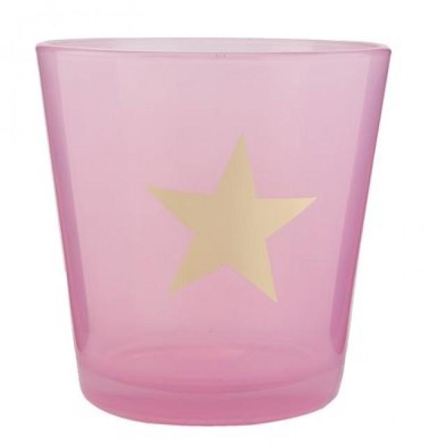 "Suport Lumanare ""Pink Star"", Clayre & Eef"