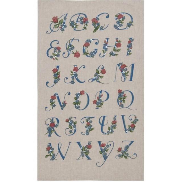"""Prosop de bucatarie """"Green alphabet"""", Clayre & Eef"""