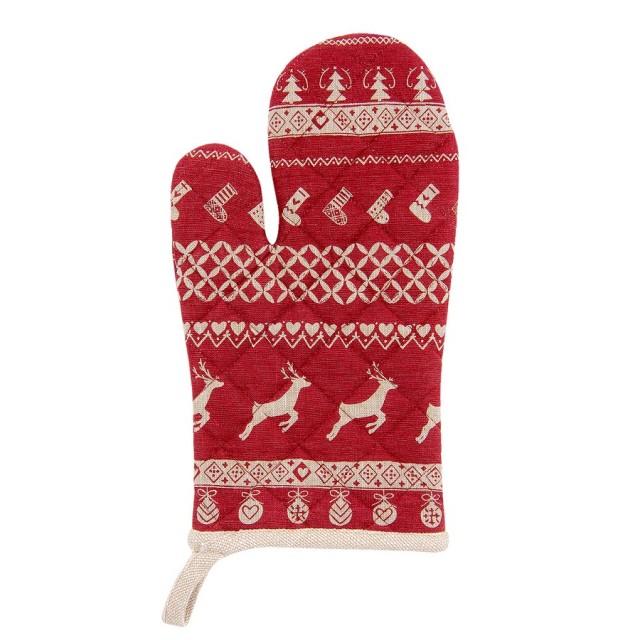 "Manusa de bucatarie ""Nordic Christmas"", Clayre & Eef"