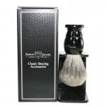 Edwin Jagger Pamatuf pentru barbierit Ebony, Best Badger, cu suport