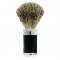 Edwin Jagger Pamatuf pentru barbierit Classic Ebony, Pure Badger