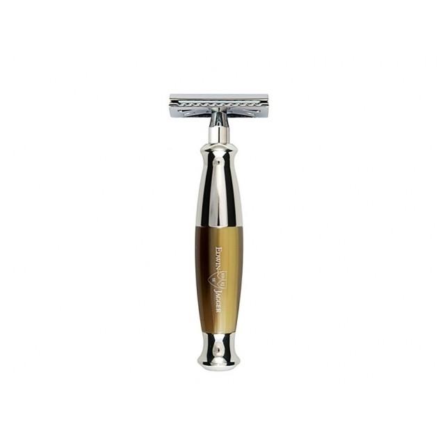Edwin Jagger Aparat de barbierit clasic, R352CRSR Horn & Chrome