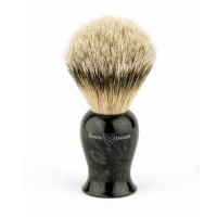 Edwin Jagger Pamatuf pentru barbierit Black Marble, Silver Tip Badger