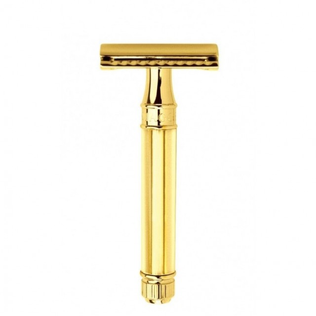 Edwin Jagger Aparat de barbierit clasic, DE89811GBL Octagonal Gold