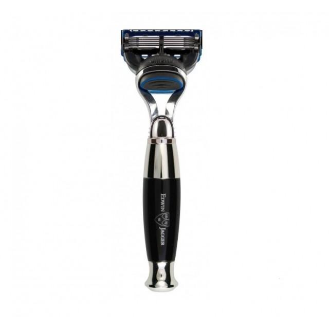 Edwin Jagger Aparat de barbierit Fusion, R356CRF Black Chrome