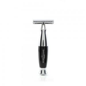 Edwin Jagger Aparat de barbierit clasic, R356CRSR Black & Chrome