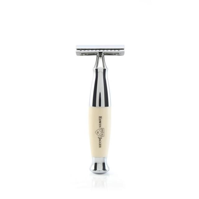 Edwin Jagger Aparat de barbierit clasic, R357CRSR Ivory & Chrome