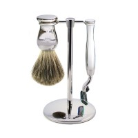 Edwin Jagger Set barbierit 3 piese S81M719CR, Simple Chrome Mach 3