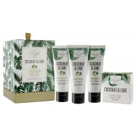 Set cadou Coconut & Lime, The Scottish Fine Soaps