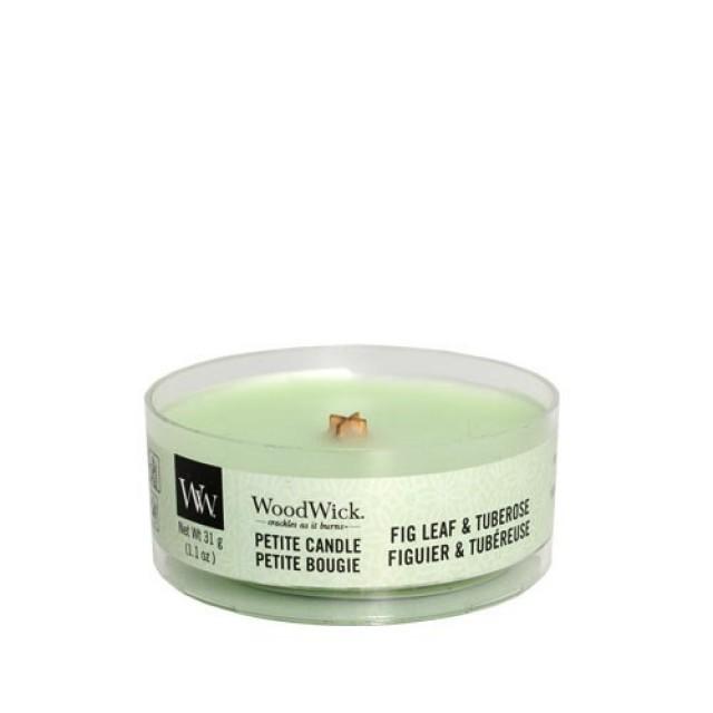 Lumanare Parfumata Petite Fig Leaf & Tuberose, WoodWick®