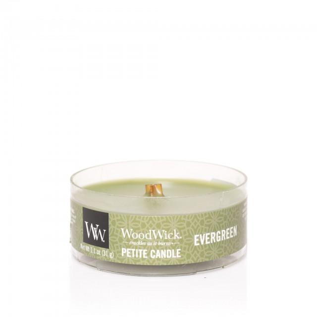 Lumanare Parfumata Petite Evergreen, WoodWick®